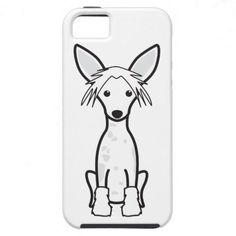 Chinese Crested Dog Cartoon iPhone 5 Covers