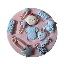 Baby B Silicone Mold For Fondant Cake Chocolate Decorating Candy Clay Sugarcraft