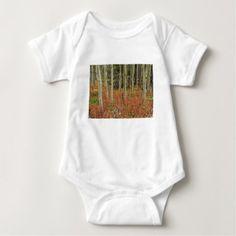 Colorful Aspen Forest Floor Baby Bodysuit -nature diy customize sprecial design