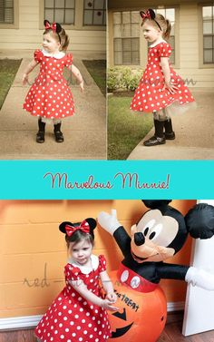 Minnie Mouse costume for Halloween!