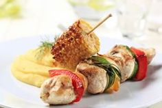 Channel your inner grill master with this Southern Style Mustard BBQ Chicken Kabobs recipe. Unique flavors combine to marinate the chicken, mushroom, summer squash and green pepper kabobs. Chicken Kabob Recipes, Chicken Kabobs, Bbq Chicken, Easy Healthy Recipes, Diet Recipes, Easy Meals, Diet Meals, Lamb Kebabs, Single Serving Recipes