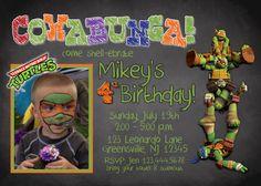 Teenage Mutant Ninja Turtles Invitation //  Ninja Turtle Birthday Invitation // Turtle Invitation // PRINT YOUR OWN by DigitalDesignsbyLaur on Etsy