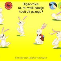 Deze kritisch luisteren digibordles is gemaakt door Margriet van Diepen en is vooral geschikt bij het thema Pasen. Het vraagt de kinderen goed te luisteren naar de opdracht en te kijken naar de plaatjes om zo tot de juiste keuze te komen.