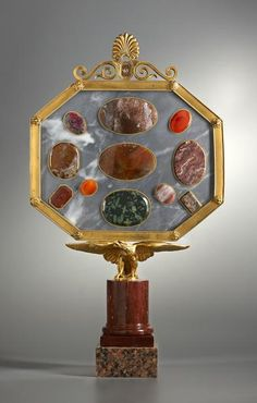 An exclusive object offered by Viebahn Fine Arts: Prussian Collection of Precious Stones. Prussia, Berlin, circa 1810-1820. Probably after a design of Karl Friedrich Schinkel.