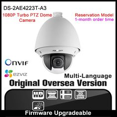277.30$  Watch now - http://alimt9.worldwells.pw/go.php?t=32788749030 - HIKVISION DS-2AE4223T-A3 Original English Version IP camera 2MP security camera 1080P CCTV camera P2P ONVIF POE indoor H265 HIK 277.30$