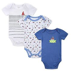 437392373 Unisex Infant Jumpsuit 3 pcs/lot Short Sleeve Summer Overalls 3 Colors 14  3M Printed