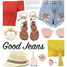 A fashion look from June 2017 featuring Alice + Olivia tops, House of Holland shorts and Neiman Marcus clutches. Browse and shop related looks.