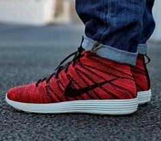 Nike Flyknit Chukka Blue On Feet