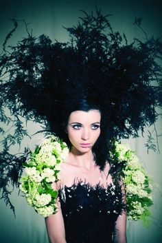Made entirely out of flowers!  Shlomi Ilani for ZER4U F/W Collections