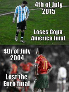 Futbol de Locura: Meme del Día: Hasta en esto se parecen Cristiano y Messi