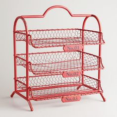 One of my favorite discoveries at WorldMarket.com: Red Austin 3-Tier Wire Tray