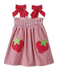 Rare Editions Little Girls' Red Check STRAWBERRY Applique Seersucker Dress, http://www.amazon.com/dp/B00VN268HI/ref=cm_sw_r_pi_awdm_6gdawb026TTRG