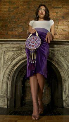 Contemporary Otoe Beaded flat bag  Photography: Benjamin West   Model: Gianni Moses