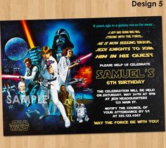 Star Wars Birthday Invitation Star Wars by KidsPartyPrintables