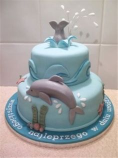 Dolphin Themed Cake