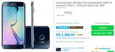 "Samsung Galaxy S6 Edge Preto 32GB 4G Android 5.0 Tela 5.1"" Octa-Core Câmera de 16MP >"