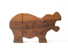 Wooden Hippo Puzzle