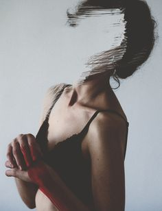 Without [woman and wall] by Rocio Montoya, via Behance