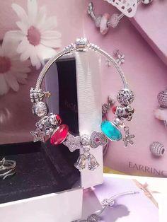 50% OFF!!! $299 Pandora Charm Bracelet Red Green. Hot Sale!!! SKU: CB01741 - PANDORA Bracelet Ideas
