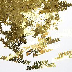 """Gold """"Happy Anniversary"""" Confetti, 2015 Amazon Top Rated Confetti #Toy"""
