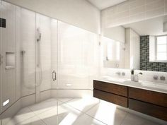Floating Vanity Design, Pictures, Remodel, Decor and Ideas Floating Bathroom Vanities, Bathroom Vanity Makeover, Floating Vanity, White Vanity Bathroom, Vanity Sink, Bathroom Styling, Wood Vanity, Vanity Drawers, Neutral Bathroom