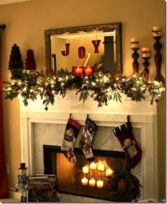 Christmas Decor Ideas for Fireplace Mantel. 21 Christmas Decor Ideas for Fireplace Mantel. 99 Inspiring Rustic Christmas Fireplace Ideas to Makes Your Fireplace Mantel Christmas Decorations, Christmas Mantels, Noel Christmas, Rustic Christmas, Xmas Decorations, Winter Christmas, Christmas Crafts, Victorian Christmas, Vintage Christmas