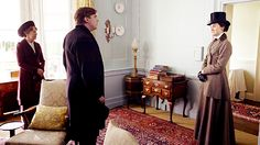 Matthew and Mary's first meeting at Crawley House