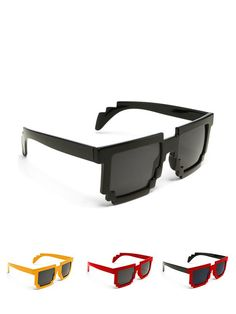 See the world in 8 bits! Check out these 8 bit sunglasses in a variety of colors