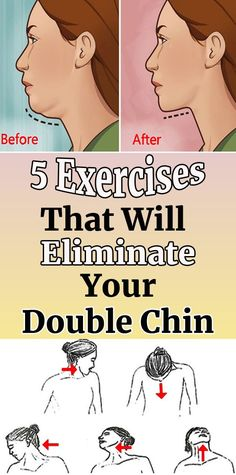 5 Exercises To Avoid Stubborn Double Chin – Herbal Medicine Book Losing Weight Tips, Weight Loss Tips, Lose Weight, Lose Fat, Fitness Tips, Health Fitness, Double Menton, Medicine Book, Yoga Exercises