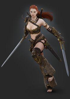 Barbarian Female by Bogdanbl4