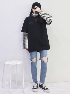 Clothing ideas for korean street fashion 723 Korean Girl Fashion, Korean Fashion Trends, Korean Street Fashion, Ulzzang Fashion, Korea Fashion, Asian Fashion, Look Fashion, Korean Street Styles, Korean Style