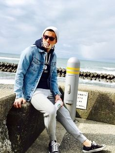 Autumn Fashion, Men's Fashion, Fasion, Outfit Of The Day, White Jeans, Denim, Winter, Casual, How To Wear