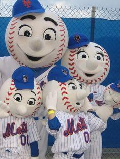 Mr. Met & family