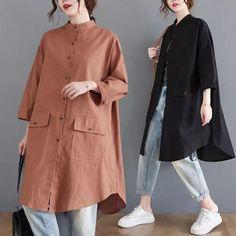 Shirt Blouses, Shirts, Duster Coat, Raincoat, Jackets, Fashion, Rain Jacket, Down Jackets, Moda