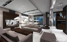 wnętrze w stylu nowoczesnym aranżacja kominek wolnostojący salon