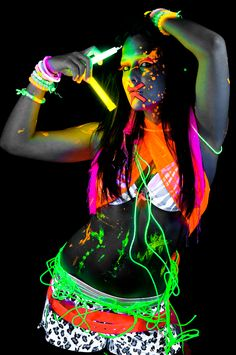 Attend or throw a Glow Out party! Neon body paint required (: