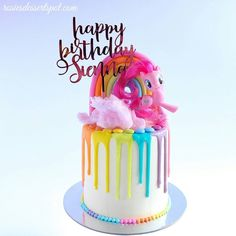 "1,641 Likes, 9 Comments - Rosie's Dessert Spot (@rosiesdessertspot) on Instagram: ""a My Little Pony themed cake for a gorgeous little girl who turned 5 yesterday Happy birthday…"""