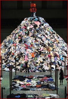 Image result for mountain of clothing