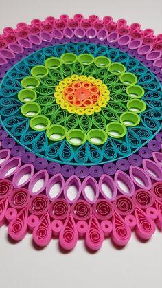 Paper Quilled Mandala - - Handmade Items , Paper Quilled Mandala - Papier Quilling Mandala 9 x 9 Papier-Quilling. Arte Quilling, Paper Quilling Patterns, Origami And Quilling, Quilled Paper Art, Quilling Paper Craft, Paper Crafting, Paper Quilling Tutorial, Paper Paper, Mandala Origami