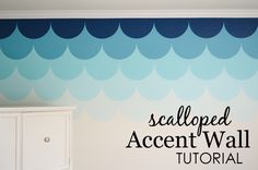 Scalloped Accent Wall Tutorial - love this in a nursery or kids room!