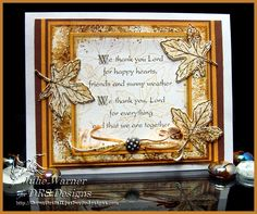 DRS Designs Rubber Stamps: Challenge #146 - Any Autumn Holiday!
