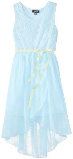 ZUNIE Girls 7-16 Lace Bodice Dress with Chiffon Tulip Skirt:Amazon:Clothing
