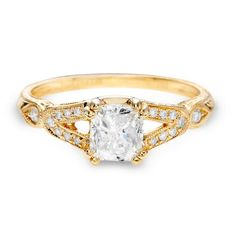 Justice Wedding Collection Justice Wedding Collection Cushion Gold Engagement Ring