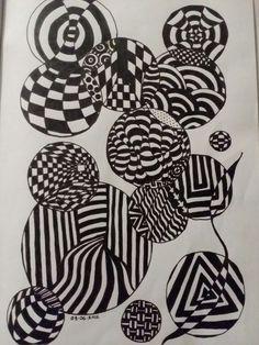 Illusion bubbles doodle