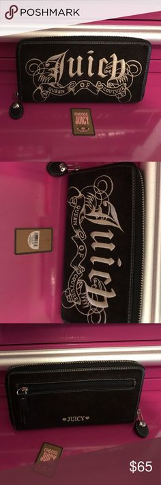 Juicy Couture Wallet tag inside great condition Juicy Couture Wallet tag inside great condition large wallet several card holders and three zip compartments nice wallet holds lots Juicy Couture Bags Wallets