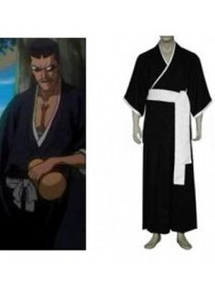 Bleach Lieutenant Iba Tetsuzaemon 7th Division Cosplay Outfits Costumes