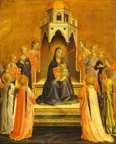 Madonna Surrounded by Angels – Fra Angelico – Oil Painting Reproductions and Prints from Canvas Replicas Fra Angelico, Madonna, Renaissance Kunst, Italian Renaissance, Early Christian, Christian Art, Städel Museum, Saint Dominique, Web Gallery Of Art