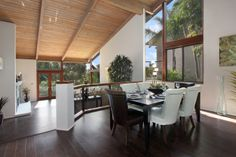 The open dining room looks over the family room.   3 Morning Wood Drive, Laguna Niguel, CA