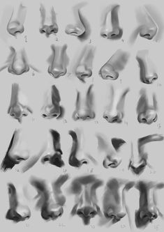 Did some nose studies =) critique is welcome : learnart Anatomy Sketches, Anatomy Drawing, Anatomy Art, Pencil Art Drawings, Realistic Drawings, Art Drawings Sketches, Digital Art Beginner, Nose Drawing, Drawing Exercises