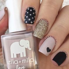 Easy Nail Art Designs - Neutral Mix and Match - Step By Step, Simple Tutorials For Beginners For Summer, Fall, Spring, and Winter. Ideas For Nailart For Kids, For Toes, DIY, And Classy Ring Finger Ideas With Glitter. Also Some Great Ideas For Flowers, Paint, Stripes, And Black Nails - https://thegoddess.com/easy-nail-art-design